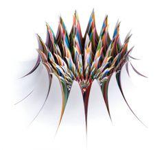 Jen Stark's hypnotic sculptures