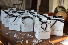 Everything's set for a 90th birthday party! Check out the fun.  Great to use for favor and seating assignment