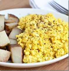 "Scrambled Tofu- ""I actually like this more than eggs because it's usually easier to clean the pan afterwards; if that isn't a good enough reason to make it, I don't know what is."""