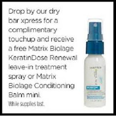 FREE Matrix Treatment Spray or Conditioning Balm Mini at JCPenney Salon - Essential Oils Soap, Young Living Essential Oils, Natural Hand Sanitizer, Matrix Biolage, The Balm, Salons, Conditioner, Water Bottle, Mini