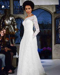 Oleg Cassini Spring 2018 Wedding Dress Collection   Martha Stewart Weddings – Lace long-sleeve wedding dress