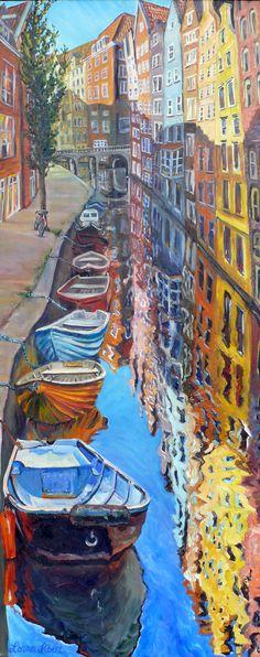 Lorna Libert, Artist Boats, water amazing colors