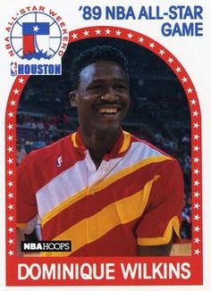 RARE 89/90 NBA HOOPS 89 NBA ALL-STAR GAME DOMINIQUE WILKINS ATLANTA HAWKS MINT