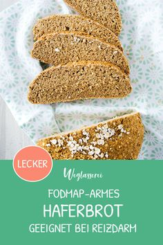 Saftiges FODMAP‐armes Haferbot FODMAP-poor and juicy bread from oats. You can find even more healthy FODMAP-poor recipes in German on … Lactose Free Diet, Healthy Gluten Free Recipes, Fodmap Recipes, Biscuits Sans Lactose, Granola, Dairy Free Cookies, Menu Dieta, Paleo Bread, Bread Diet