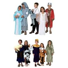 71095 Nativity Complete Costume Dressup Mary Joseph Wiseman Assorted Sizes. 71095  Assorted Sizes 4-8 years. NOTE: We are sold out of Joseph in size 6/8, so if you order this size, all costumes you receive will be size 6/8, except Joseph will be size 4/6. Sorry for the inconvenience.  Nativity dress up set includes 12 designs! Great for Christmas pageants and Nativity scenes.  Set includes: Mary, Joseph, Baby Jesus Doll, Donkey, Angel, Red Wiseman, Sheep Puppet, Blue Wiseman, Cow, Purple…
