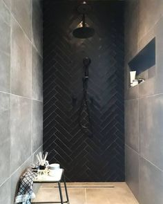 Bathroom interior 245024035964540489 - Bathroom mirror black tile 24 best ideas Source by lkimminn Bathroom Mirror Design, Bathroom Interior Design, Home Interior, Mirrored Tile Bathroom, 3d Tiles Bathroom, Shower Bathroom, Mirror Tiles, Downstairs Bathroom, Bathroom Cabinets