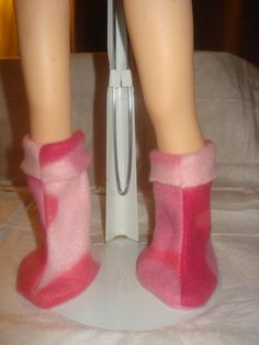 Pink Camoflage Fleece boots for American by KelleysKreationsLV, $8.95