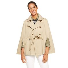 Cotton Twill Trench Cape