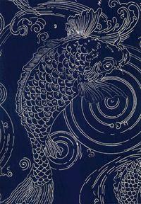 58 Super Ideas For Bathroom Wallpaper Fish Koi Bathroom Wallpaper Fish, Boat Wallpaper, Vintage Japanese, Japanese Art, Koi, Whale Pattern, Indigo Prints, Murals Street Art, Arts And Crafts Movement