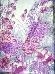 Length: 27.5 Inches; Width: 27.5 Inches Description This is a lovely silk scarf featuring various flowers like lilies, carnations and roses. The scarf combines purple, pink and lilac colors on a white background. The scarf has handrolled edges. The scarf was used before but it is in a very good vintage condition. On one side there is a little hole (see the last picture) and there are some other minor imperfections. However, when you wear the scarf they are invisible. The gorgeous print of… Lilac Color, Purple Lilac, Designer Scarves, Square Scarf, Carnations, Lilies, Grey And White, Unique Gifts, Roses