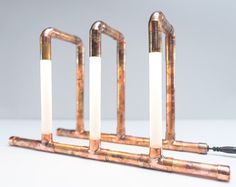 Copper Pipe Lamp LED LED Lamp Copper Lamp Pipe von KineticAdditions