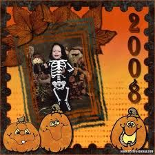 scrapbook page ideas for halloween - Google Search