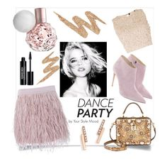 """Dance party"" by yourstylemood ❤ liked on Polyvore featuring Lace & Beads, Ralph Lauren, ZoÃ« Chicco, Dolce&Gabbana, Urban Decay, SuperTrash and Edward Bess"
