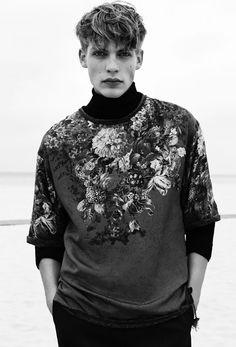 Floral Sweatshirt by Carlotta Manaigo