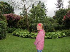 Rachel in Chirk Castle gardens.