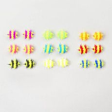 Spiky Rubber Stud Earrings Set of 9