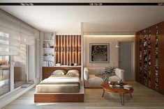 Современный и функциональный интерьер небольшой квартиры. Примеры на фото — смотри! Стандартные квартиры не всегда радуют своих хозяев комнатами разного назначения. Поэтому случается, что спальня является гостиной, а кухня делит одно пространство со столовой. В таких условиях огромное значение приобретает функциональный интерьер. Фото ниже иллюстрируют, как можно стильно и практично оформить жилище, обделённое квадратными метрами. …