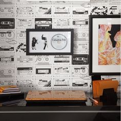 Use bold wallpaper for a statement look | Ideal Home's Roomsets at the 2012 Ideal Home Show | housetohome.co.uk