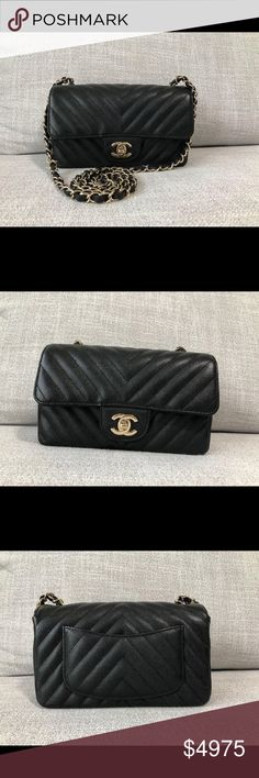 92cf508ea3155a CHANEL 18B CHEVRON MINI RECTANGULAR FLAP BAG LGHW CHANEL 18B CHEVRON MINI  RECTANGULAR FLAP BAG IN
