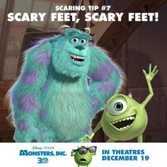 Have a scare training, where they practice all the warm-up moves Mike & Sulley practice in the mornings!  (Scary feet, scary feet, freeze! and Twins - in a bunk bed!)