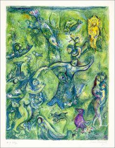 Arabische Nächte. Illustrator Marc Chagall.