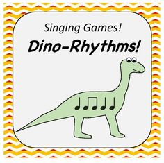 Your kids will absolutely love playing this singing game! This singing game gets your students singing, but it also gets them moving and practicing rhythms! Everything needed to play the game is included in this resource! Dinosaur Songs For Kids, Kids Songs, Singing Games, Rhythm Games, 2nd Grade Music, Music And Movement, Music For Kids, Elementary Music, Classroom Inspiration