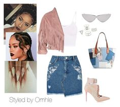 """""""Yaaaaasss B"""" by awande-duma on Polyvore featuring Miss Selfridge, BasicGrey, Topshop, Puma, Marc Jacobs, Le Specs and Charlotte Russe"""