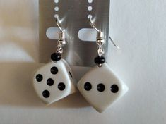 Excited to share the latest addition to my #etsy shop: Dice earrings, 15mm, Rockenroll, Rockabilly, Big Dice, Acrylic https://etsy.me/2K1Tjc7