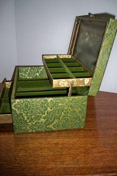 Vin E Lady Buxton Jewelry Box Green Three Tiered By Lolasbounty