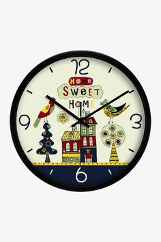 Art Wall Sweet Home Clock In Black