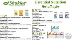 Supplementation for every age group. Contact me for a specialized vitamin program for you and your family. #shaklee #vitamins  #gorskiwellness