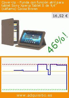"""Cover-Up - Funda con función atril para tablet Sony Xperia Tablet S de 9,4"""" (cáñamo) Cocoa Brown (Accesorio). Baja 46%! Precio actual 16,52 €, el precio anterior fue de 30,49 €. http://www.adquisitio.es/cover-up/funda-c%C3%A1%C3%B1amo-natural-sony-6"""