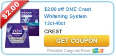 $2.00 off ONE Crest Whitening System 12ct-40ct