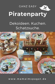 Coole Piratenparty: Ideen für Piratengeburtstag Deko, Piratengeburtstag Spiele, Piratenparty Deko und einen tollen Piratenschiffkuchen. #piratenparty #kindergeburtstag #feiern #party #spiele Table Decorations, Birthday, Blog, Easy, Gifts For Toddlers, Toys For Toddlers, Pirate Ship Cakes, Diy Invitations, Birthdays