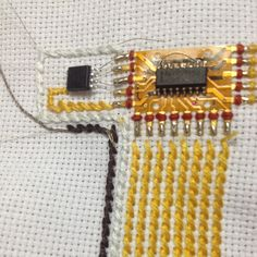 """""""There is No Love, Just Relationships"""" is a textile design project involved with electronic and programming techniques in my residency project in Oaxaca Mexico 2013: A sense of """"intimacy"""" and dialogs made of LED text scroller are put together on fabric, this fabric has become a platform to carry those dialogs and conversations which are from emails about my personal ex-relationships."""