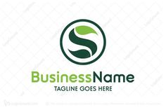 Logo for sale: Green Letter S Logo Green Letter S logo to convey environmental friendly. Suitable for green related business such as landscaping. health park lawn cosmetics gardening plant planting garden care ecology eco friendly  natural nature organic logo logos farm leaf vegetable leaves plant