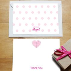 Personalised #stationery - thank you cards