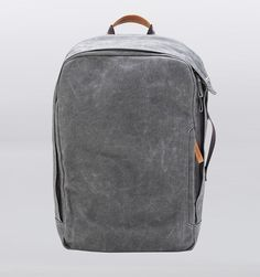 "Qwstion 17"" Laptop Backpack - Washed Grey - Rushfaster.com.au Australia"