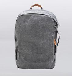 "Qwstion 17"" Laptop Backpack - Washed Grey - Rushfaster.com.au Australia"