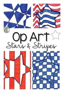 Patriotic Activity: Op Art Stars & Stripes Make an op art star for patriotic holidays such as or July, President's Day, Veteran's Day or Flag Day. Step by step instructions makes this an easy art lesson display some stars and stripes! Art Activities For Kids, Art For Kids, Veterans Day Coloring Page, Easy Art Lessons, Unique Art Projects, Student Crafts, Student Drawing, Art Classroom, Simple Art
