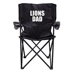 Lions Dad Black Folding Camping Chair with Carry Bag >>> Details can be found by clicking on the image.(This is an Amazon affiliate link and I receive a commission for the sales)