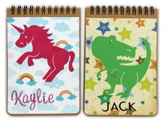 SPC Notepads - With vinyl images and personalized names by @Crafts Direct