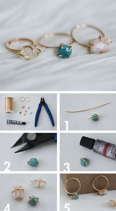 How To Make Easy Prong Ring With Facet Stone