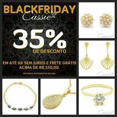BLACK FRIDAY CASSIE: 35%  DE DESCONTO EM TODA LOJA ATÉ 06.12.2015. APROVEITE!!  AS NOVIDADES TAMBÉM ESTÃO EM BLACK FRIDAY!!!  Semijoias folheadas com garantia!!  ▃▃▃▃▃▃▃▃▃▃▃▃▃▃▃▃▃▃▃▃▃▃▃ #Cassie #semijoias #acessórios #folheadoaouro #folheado #instasemijoias #instajoias #fashion #lookdodia #dourado #tendências #banhadoaouro #lindassemijoias #semijoia #semijoiasfinas #feminino  #blackfriday #descontos #anéis #brincos #pulseiras #colares #Charms