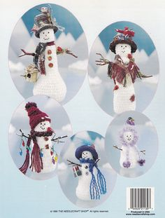 Snow Folk Snowmen & Evergreen Trees The Needlecraft Shop