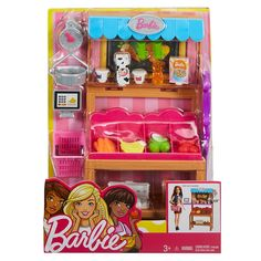 Check out the Barbie Grocery Playset (FJB27) at the official Barbie website. Explore all our Barbie Career Dolls and Playsets today!