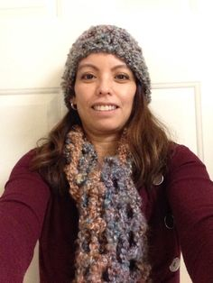 My 1st beanie and scarf  crochet set