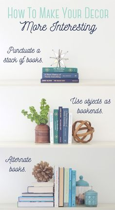 "Does your home decor look a little lifeless? Want to perk up your decor and make it look better instantly? The trick is to bust out of the vertical and horizontal planes. Displaying all upright decor or all flat decor is boring. So, if all you've got is a flat stack of books and tall vases, then we've got some work to do. Thankfully, there's a super simple way to fix your boring decor.  I want to introduce you to the concept of ""breaking planes."" The two planes we want to break are the…"