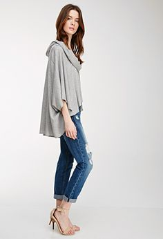 Draped Cowl Neck Poncho | FOREVER21 - 2002247503