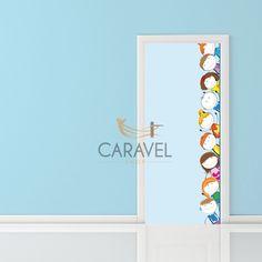 Παιδικό Αυτοκόλλητο Πόρτας με παιδάκια Decals, Home Decor, Tags, Decoration Home, Room Decor, Sticker, Decal, Home Interior Design, Home Decoration